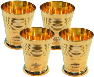 Indian Craft Villa Glass(1000 ml, Gold, Pack of 4) at flipkart