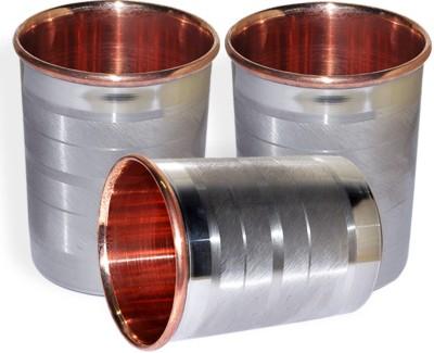 Dakshcraft Drinkware Accessories Handmade Copper Tumblers, Set of 3 DS122