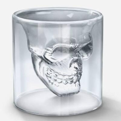 Exciting Lives Doomed Skull Shotglass