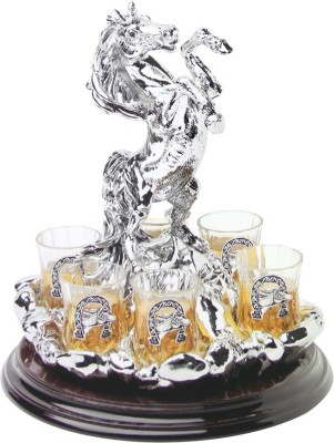 Treta Standing Horse with Decanter and Shot Glasses