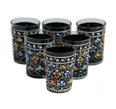 eCraftIndia Glass Set(50 ml, Black, Pack of 6)