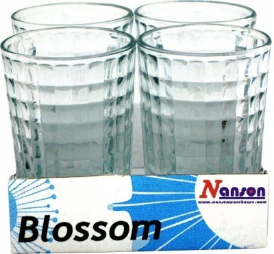 Nanson Glass(208 ml, Clear, Pack of 4)