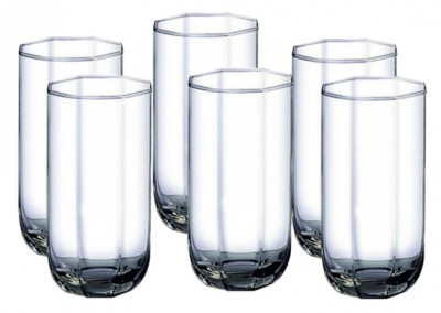 Ocean Tulip Tumbler Glass Set(320 ml, Clear, Pack of 6)