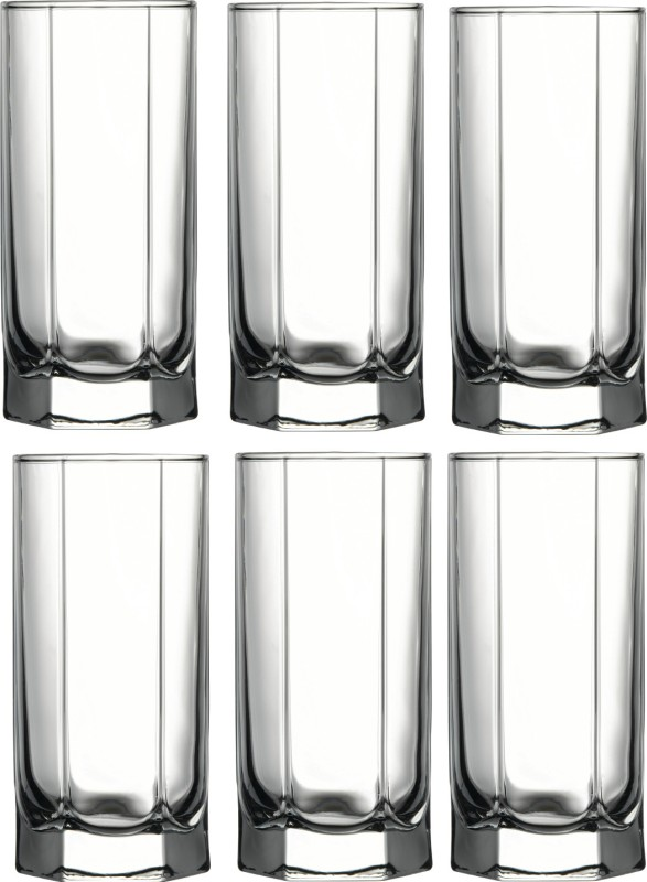 Pasabahce Tango Long Drink Tumbler Glass Set(290 ml, Clear, Pack of 6)