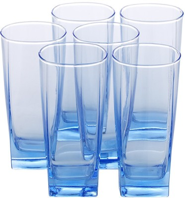 Luminarc Sterling Ice Blue H/B Tumbler Glass Set(330 ml, Clear, Pack of 6)