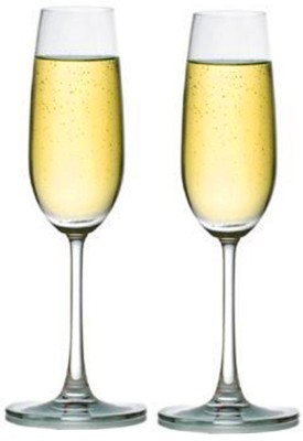 Ocean Madison Flute Champagne Glass Set(210 ml, Clear, Pack of 2)