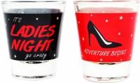 Ek Do Dhai Ladies Night Glass Set(60 ml, Multicolor, Pack of 2)