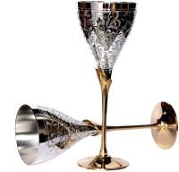 Stonkraft Premium Glass Set(200 ml, Silver, Pack of 2)