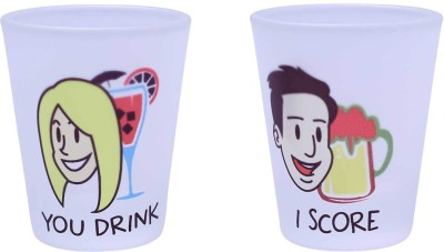 The Crazy Me You Drink , I Score set of Shot Glasses