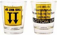 Ek Do Dhai Bottoms Up Glass Set(60 ml, Multicolor, Pack of 2)
