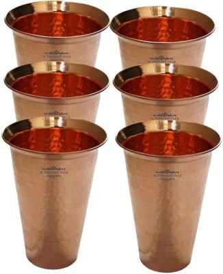 Indian Craft Villa Glass(3300 ml, Brown, Pack of 6) at flipkart