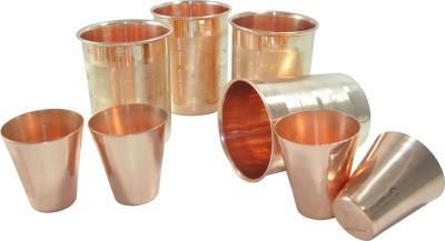 Dakshcraft Glass Set(380 ml, Gold, Pack of 4) at flipkart