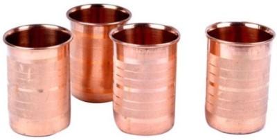 tiwaritraders Glass Set(250 ml, Brown, Pack of 4) at flipkart