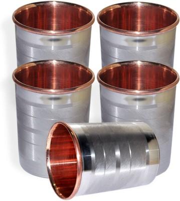 Dakshcraft Drinkware Accessories Handmade Copper Tumblers, Set of 5 DS124