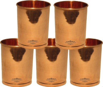 IndianCraftVilla Glass Set(1500 ml, Brown, Pack of 5)