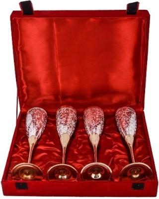 RajLaxmi Glass Set(50 ml, Silver, Gold, Pack of 4) at flipkart