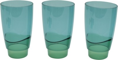 Tupperware Glass Set(475 ml, Green, Pack of 3)
