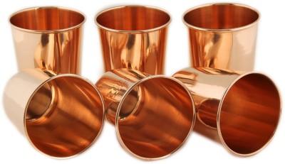 Kalpaveda Copper Glass Set of 6 Pcs