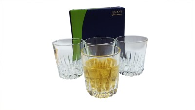 Union Glass Set(250 ml, Clear, Pack of 4)