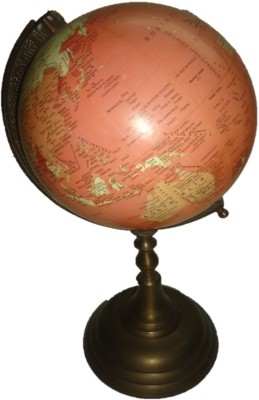 Home 2 Home Antique Traditional with Brass Stand Desk & Table Top Physical World Globe
