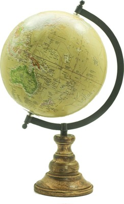 Casa Decor Wooden Finish Globe Political World Globe