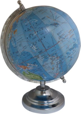Imli Street Steel Stand Home Decor Table Earth Geography Ocean Big Rotating Desk & Table Top Political World Globe