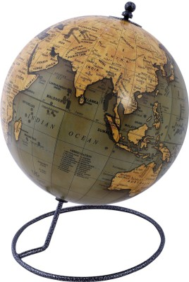 Globeskart Designer Olive Desk And Table Top Political World Globe(8 inches Olive Green)