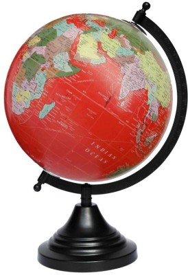 Craftghar Red Ocean Desk & Table Top Political World Globe