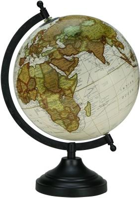 Globeskart Designer Cream Multicolour Desk and Table Top Political World Globe