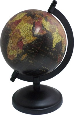 Imli Street Geography Map Wooden Stand Table Decor Earth Desk & Table Top Political World Globe