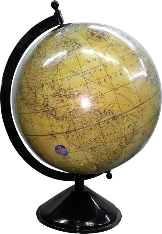 Globes gr4 Desk & Table Top Physical World Globe(Large Brown)