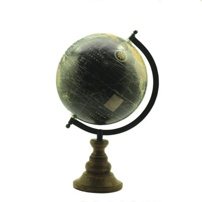 Casa Decor Casa Décor Wooden Finish Globe - Multicolor Globe Political World Globe