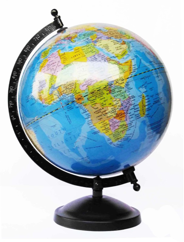 GlobeCraft Edcuacational Blue Ocean Desk & Table Top Political World Globe(Medium Blue)