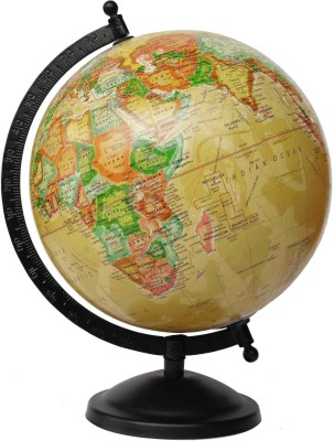 Cart4Craft Yellow with MultiColor Desk & Table Top Political World Globe
