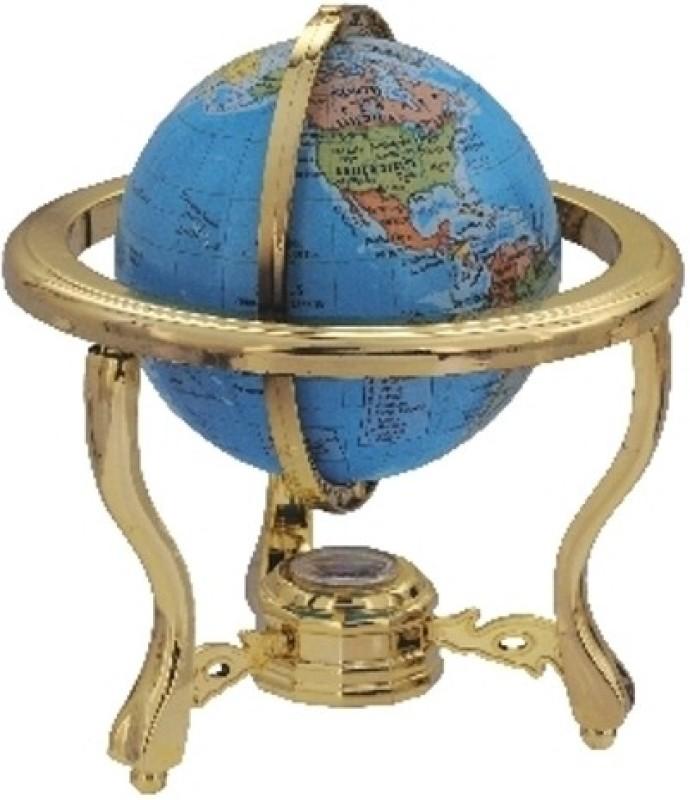 Globus 303 C Desk & Table Top Political World Globe(Blue)