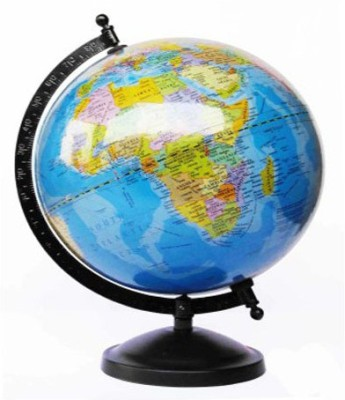 Efficient Laminated With Metal Base Desk And Table Top Political World Globe