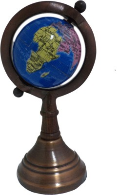Imli Street Earth Geography Map Metal Stand Table Decor Ocean Desk & Table Top Political World Globe