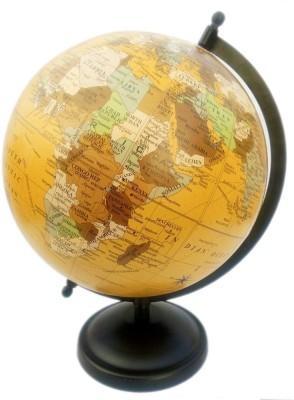 Vira Golden Matte Finish With Metal base Desk & Table Top Political World Globe