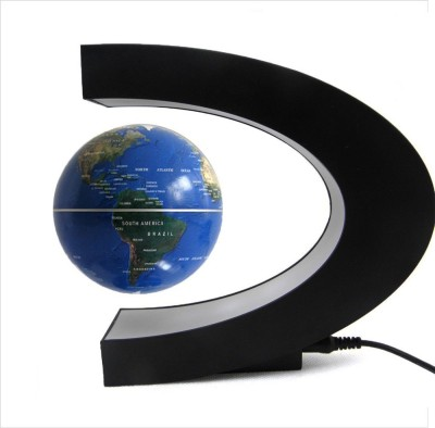 Smiledrive Magnetic Levitation Floating Rotating In Midair Anti-Gravity Desk & Table Top Political World Globe