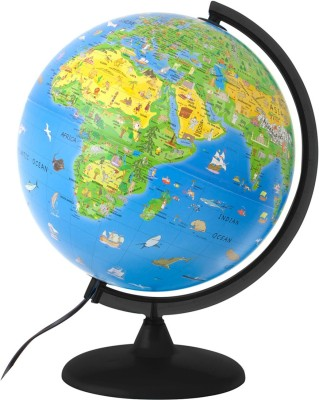 Gold Dust Dia: 15 cm - LED Excel Desk & Table Top Political World Globe(Small Blue)