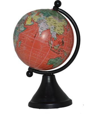 Spera Powder Black Desk & Table Top Polotical World Globe