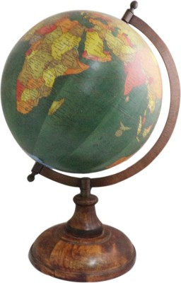 Imli Street Desktop Earth Table Decor Wooden Stand Desk & Table Top Political World Globe