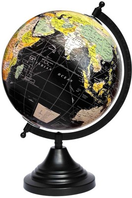 Craftghar Black Ocean Desk & Table Top Political World Globe