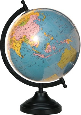 Globeskart Educational Laminated Sky Blue Desk And Table Top Political World Globe