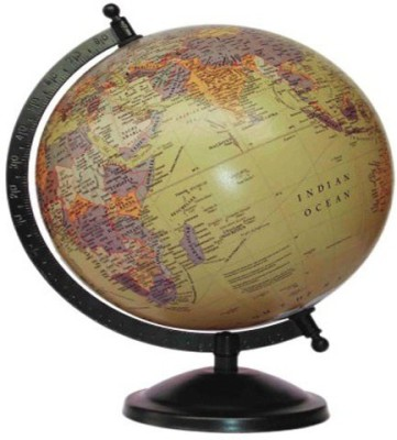 Cart4Craft Golden With Multicolor Desk & Table Top Political World Globe