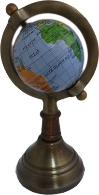 Imli Street Earth Metal Stand Table Decor Ocean Desk & Table Top Political World Globe
