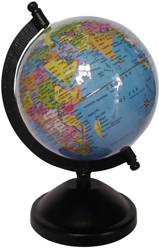 Cart4Craft Laminated Blue Student Globe Desk & Table Top Political World Globe(Small Blue)