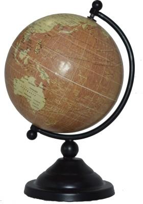 Spera Wooden Black Desk And Table Top Political World Globe