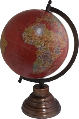 Imli Street Ocean Wooden Stand Desktop Table Earth Big Rotating Desk & Table Top Political World Globe