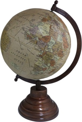 Imli Street Geography Map Metal Stand Earth Ocean Big Rotating Desk & Table Top Political World Globe